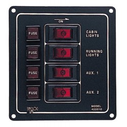 Fused 4 Way Vertical Switch Panel - 422010