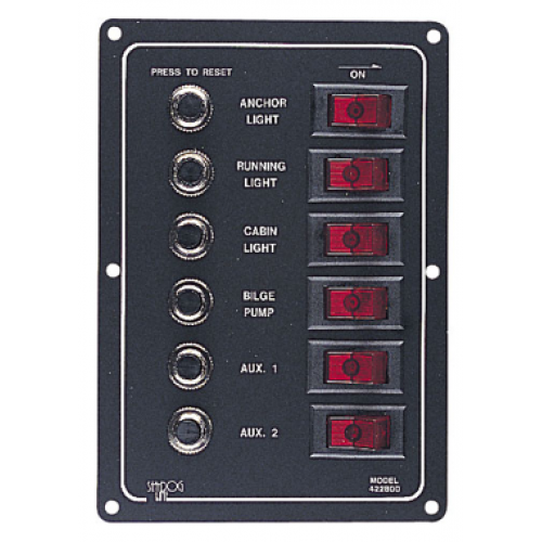 6 Way Vertical Circuit Breaker Switch Panel - 422800