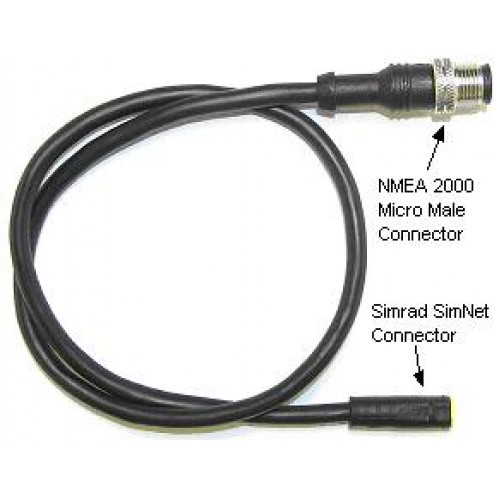 Simrad SimNet to Micro C Male Cable 0.5m - 24005729