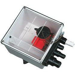 Johnson Multi Port Shower Sump c/w JPL650DUO Pump - 12V - 1202