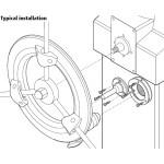 Raymarine Wheel Pilot Bulkhead Mounting Kit - E15017