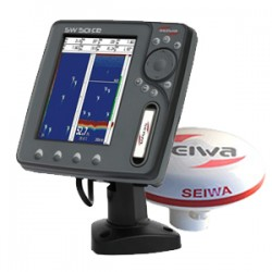"Seiwa SW501ce 5"" Multifunction Chartplotter with Fishfinder and GPS Antenna - P2CHT20ESE"