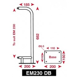 Echomax Deck Mounting Bracket - EM230 - EM230DB