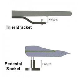 Simrad Tiller Pilot Pedestal Bracket 90mm - PB90