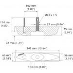 B45 50/200 Thru Hull Transducer - 000-13946-001