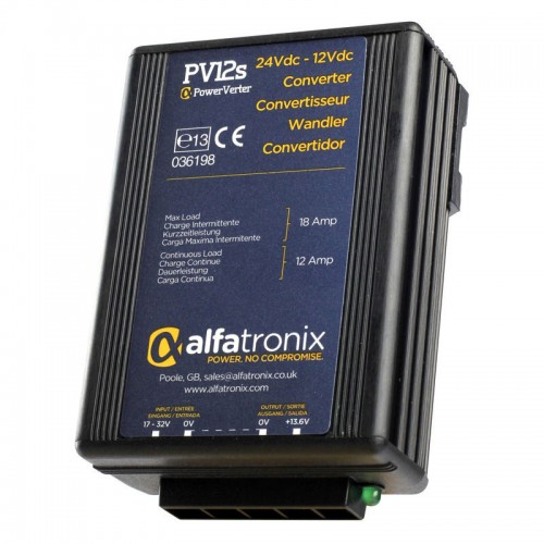 Alfatronix PowerVerter 24v to 12v non-isolated 12A Converter - PV12s
