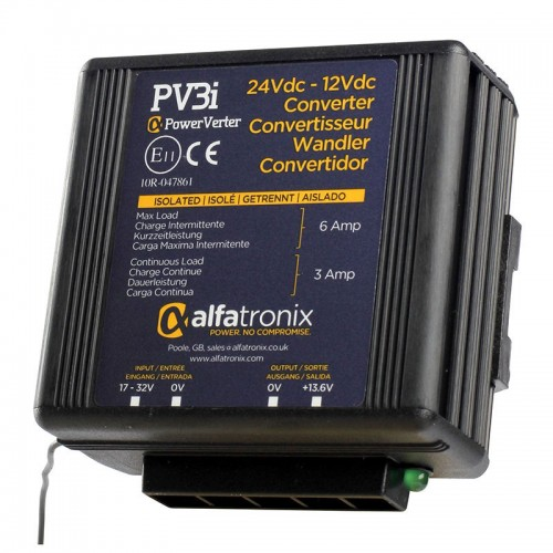 Alfatronix PowerVerter 24v to 12v Isolated Voltage Dropper - PV3i