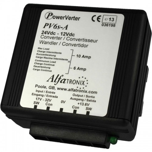 Alfatronix PowerVerter 24v to 12v non-isolated 6A Dual Converter - PV6s-A