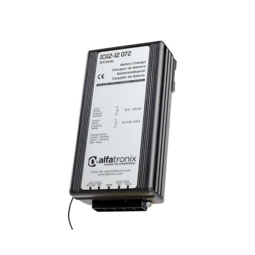 Alfatronix ICi Series Intelligent Battery Charger 12v to 12v  6A - ICI12-12-072