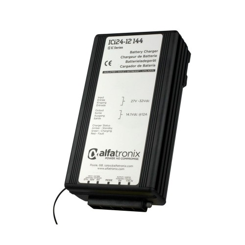 Alfatronix ICi Series Intelligent Battery Charger 24v to 12v  12A - ICI24-12-144