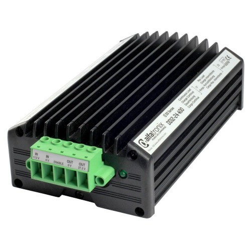 Alfatronix DD Series 12vdc to 24vdc non-isolated 16a 400w Continuous Current Converter - DD12-24-400