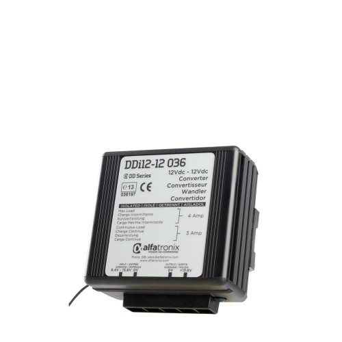 Alfatronix DDi Series 12vdc to 12vdc Isolated 3a Converter - DDI12-12-036