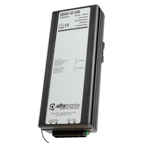 Alfatronix DDi Series 12vdc to 12vdc Isolated 9a Converter - DDI12-12-108