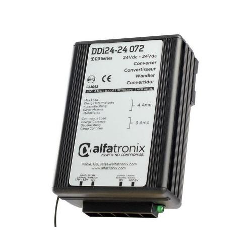 Alfatronix DDi Series 24vdc to 24vdc Isolated 3a Converter - DDI24-24-072