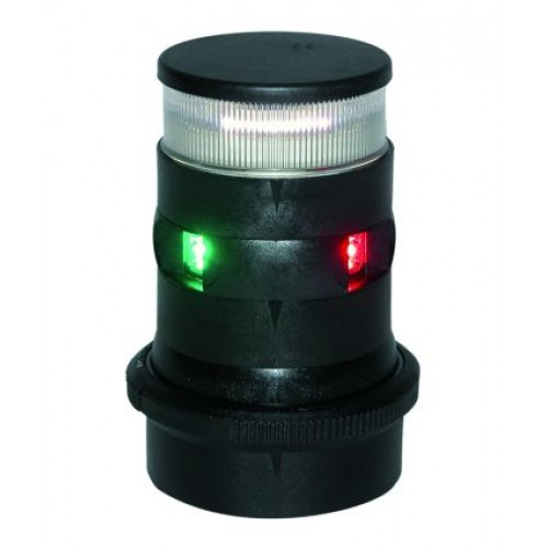 Aquasignal S34 LED Combined Tricolor and Anchor Light - Black