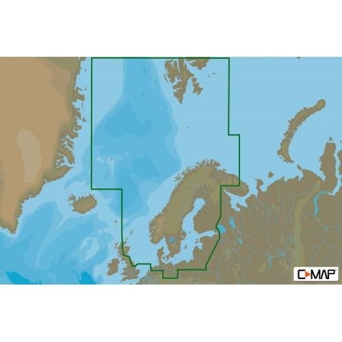 C-Map MAX MEGAWide North and Baltic Seas Chart Cartridge - M-EN-M019