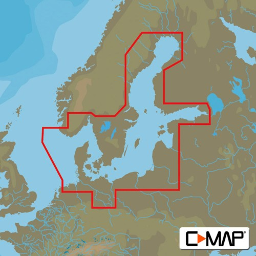 C-Map MAX Wide Baltic Sea and Denmark Chart Cartridge - M-EN-M299