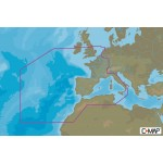 C-Map MAX MEGAWide West European Coasts and West Med Chart Cartridge - M-EW-M010