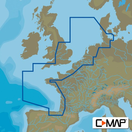 C-Map MAX Wide North West European Coasts Chart Cartridges - M-EW-M227