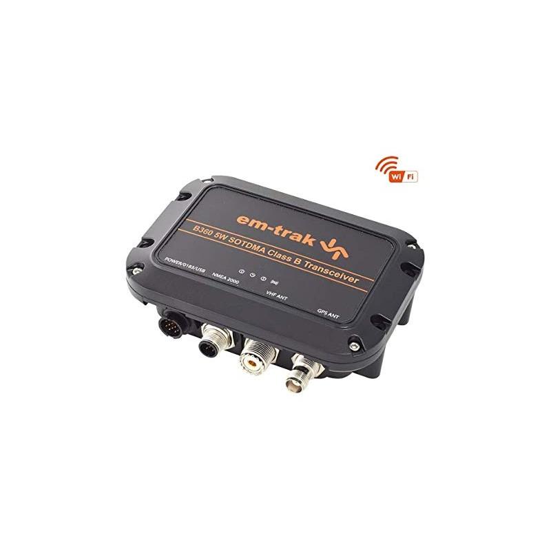 em-trak B360 Class B SOTDMA AIS Transceiver with WiFi