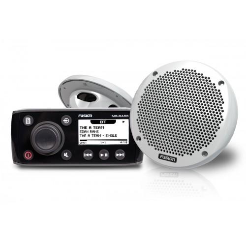 """Fusion RA55 Bundle with EL602 6"""" Slimline Marine Speakers - RA55KTS"""