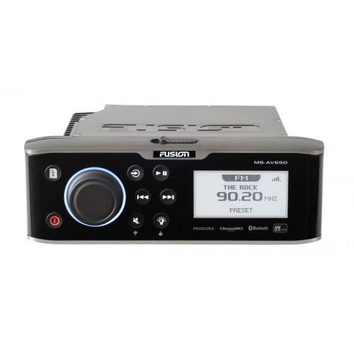 Fusion AV650 DVD/AM/FM/USB/Bluetooth/NMEA Marine Stereo