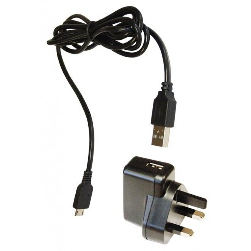 Icom BCUSB Charger UK 3 Pin USB Supply 5v 1A c/w Micro USB lead - BCUSB.001