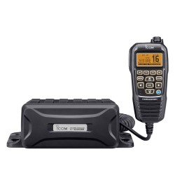 Icom M400BBE Black Box VHF/DSC with HM195G Command Mic & GPS Antenna - IC-M400BBE