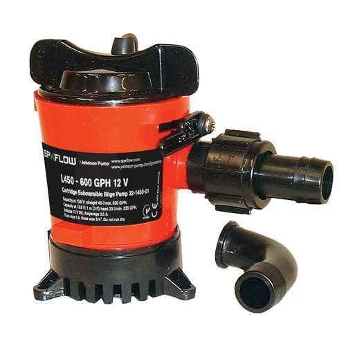 Johnson L450 Duraport Submersible Bilge Pump 12v - 0945