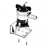 Johnson Bilge Pump Mounting Bracket - 1177