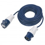 Shore Supply Cable with Blue Plug and Coupler - 14m