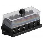 Blade Fuse Holder Block - 6 Way