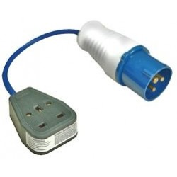 Shore Supply Plug 16A Blue to 13A Mains Socket