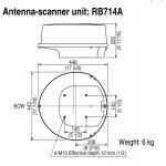 "Koden MDC-921A 8.4 inch Colour Radar with 17"" Radome"