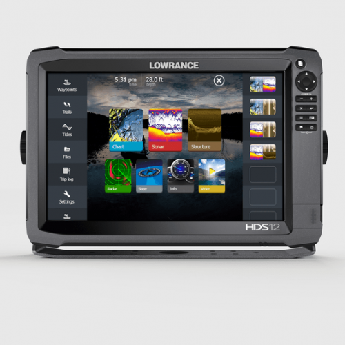 Lowrance HDS-12 GEN3 Multi Touch Chartplotter with Structure Scan - 000-11801-001