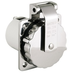 Marinco Shore Power 16 Amp/230V Stainless Steel Inlet - 8-45000