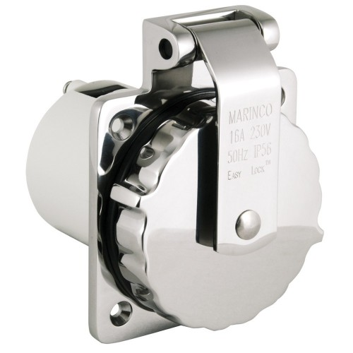 Marinco Shore Power 50 Amp/230V Stainless Steel Inlet - 8-45150
