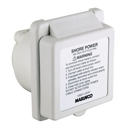 Marinco Shore Power 16 Amp/230V Standard Inlet EZ Lock - 8-45001