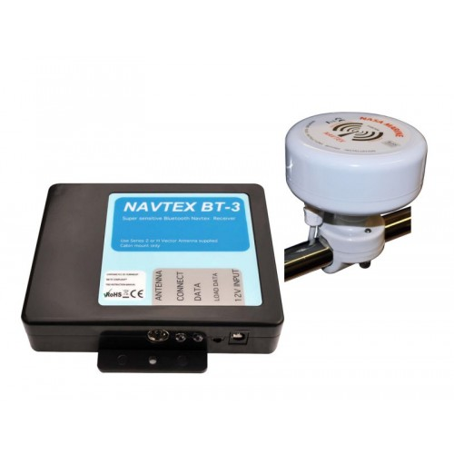 NASA Marine BT3 Bluetooth Navtex Receiver with H Vector Antenna - BT3-HV