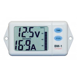 NASA Marine BM-1 Compact Battery Monitor 24vdc - White - BM-COMP-24