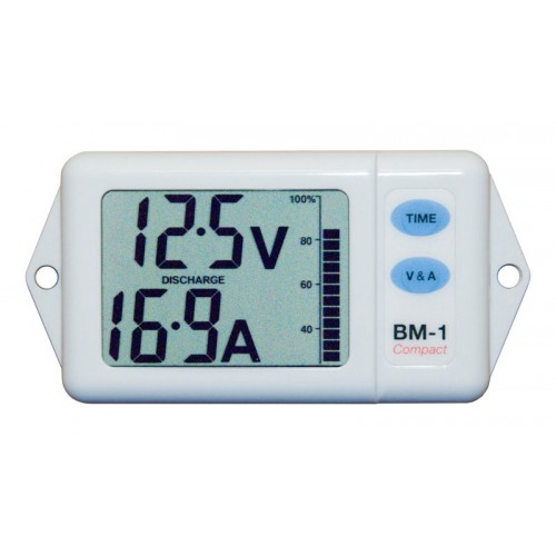 NASA Marine BM-1 Compact Battery Monitor 12vdc - White - BM-COMPACT