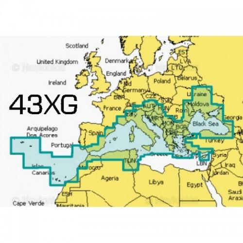 Navionics+ Large Chart Card - Mediterranean and Black Sea - NAV+43XG/UK