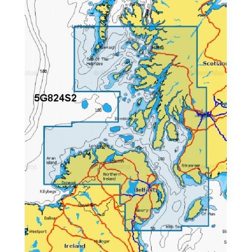 Navionics+ Small Chart Card - Ireland North, Scotland West - 5G824S2/UK