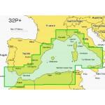 Navionics Platinum+ Large Chart Card - Mediterranean West - 32P+/UK