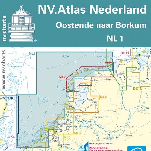NV Charts Folio Netherlands Oostende to Borkum Atlas Format - NL1