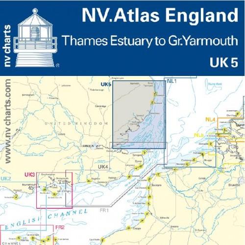 NV Charts Folio England Thames Estuary to Great Yarmouth Atlas Format - UK 5
