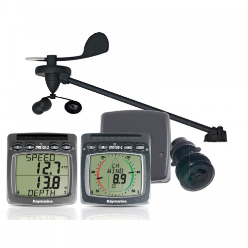 Raymarine Tacktick Wireless Wind, Speed and Depth System with Triducer - T108