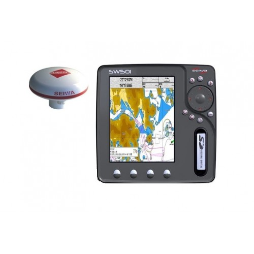 "Seiwa SW501e 5"" Multifunction Chartplotter with GPS Antenna - P2MHT20ESE"