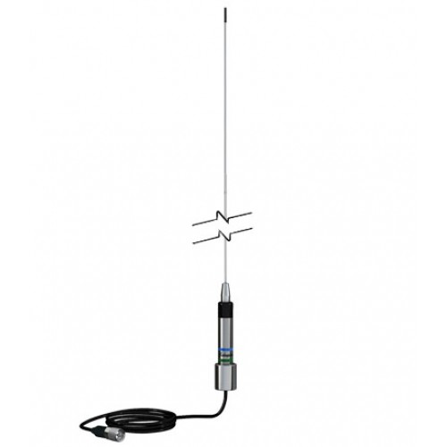 Shakespeare 5250-AIS Skinny Mini Stainless Steel Whip Antenna