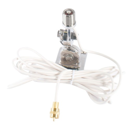 Shakespeare QuickConnect SS Ratchet Mount with Cable - QCM-S